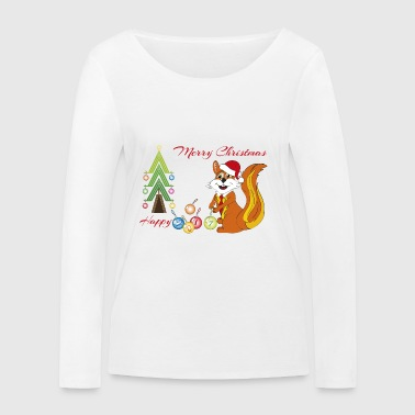 Christmas squirrel - Women's Organic Longsleeve Shirt by Stanley & Stella