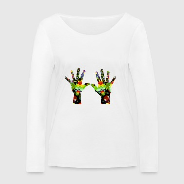 colorful hands - Women's Organic Longsleeve Shirt by Stanley & Stella