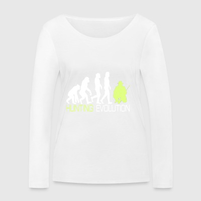 Evolution - Hunting T-Shirt for Hunter Gift - Women's Organic Longsleeve Shirt by Stanley & Stella
