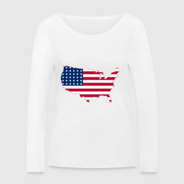 United states USA - T-shirt manches longues bio Stanley & Stella Femme