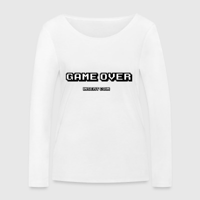 Game Over pièce d'insertion - T-shirt manches longues bio Stanley & Stella Femme