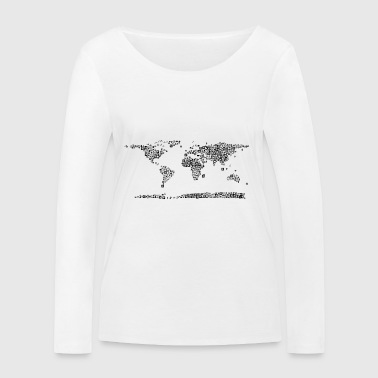 map - Women's Organic Longsleeve Shirt by Stanley & Stella