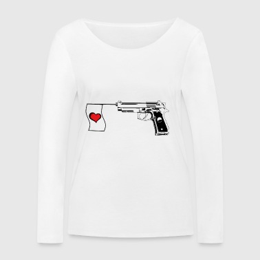 Make Love not War! - Women's Organic Longsleeve Shirt by Stanley & Stella