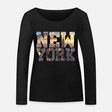 New York New York New York - T-shirt manches longues bio Stanley & Stella Femme
