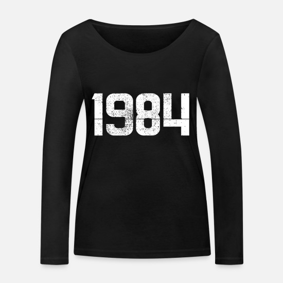 Birthday Long Sleeve Shirts - Year 1984 - Women's Organic Longsleeve Shirt black
