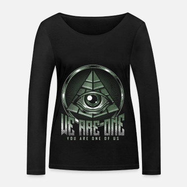 Illuminati Pyramid Eye All-seeing Egypt Antique - Camiseta orgánica de manga larga mujer