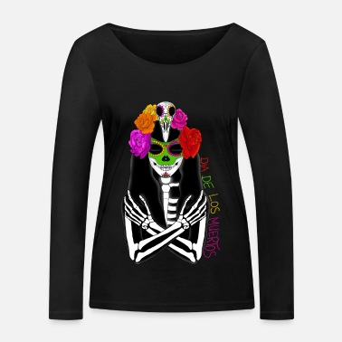 Mexico Dia de los Muertos Holiday Day of the Dead - Women's Organic Longsleeve Shirt