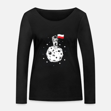Prussia Poland flag on the moon Gift astronaut - Women's Organic Longsleeve Shirt by Stanley & Stella