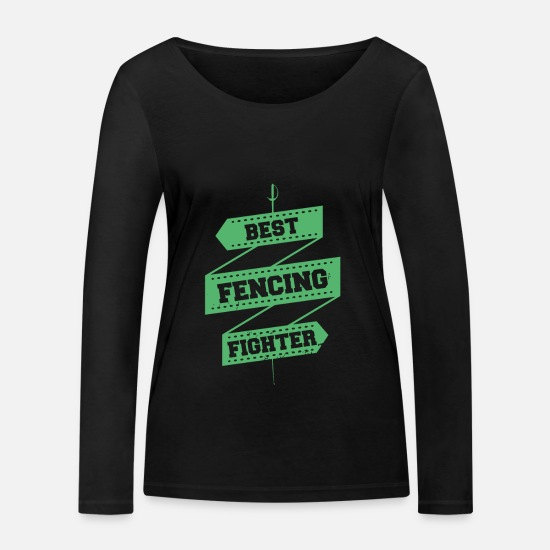 Gift Idea Long sleeve shirts - Fencing fencing fencer fencing fencing - Women's Organic Longsleeve Shirt black