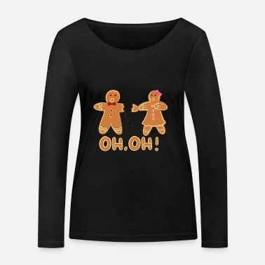 Man Christmas gingerbread - Women's Organic Longsleeve Shirt by Stanley & Stella