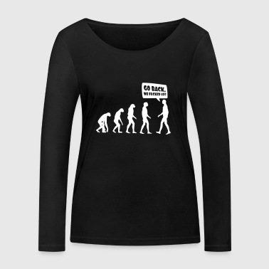 Evolution fucked up - Evolution verkackt - Vrouwen bio shirt met lange mouwen van Stanley & Stella