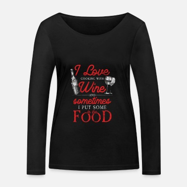 Red Wine Wine cooking red wine - Women's Organic Longsleeve Shirt by Stanley & Stella