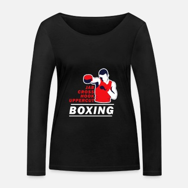 Uppercut Boxing Boxer Funny Sayings Sport Fight Gift - Women's Organic Longsleeve Shirt by Stanley & Stella