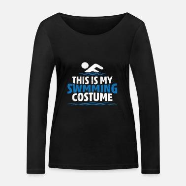 Baddräkt Det här är min baddräkt - Ekologisk långärmad T-shirt dam fe34857499319