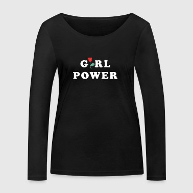 Power Girl Power Women's Gift Idea - Women's Organic Longsleeve Shirt by Stanley & Stella
