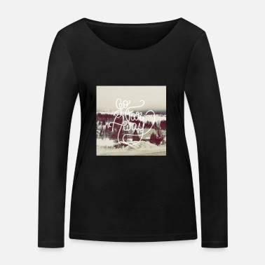 Writing Go Far Away writing - T-shirt manches longues bio Stanley & Stella Femme