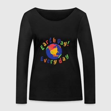 Earth Day Every Day - T-shirt manches longues bio Stanley & Stella Femme