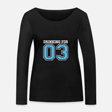 Pregnant Drinking For Three 4000x4000 - Frauen Bio Langarmshirt