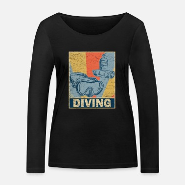 Diving retro vintage - Women's Organic Longsleeve Shirt