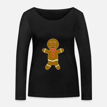 Man Gingerbread man - Women's Organic Longsleeve Shirt by Stanley & Stella