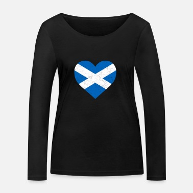 Scotland Scotland Flag Shirt Heart - Scottish Shirt - Women's Organic Longsleeve Shirt by Stanley & Stella