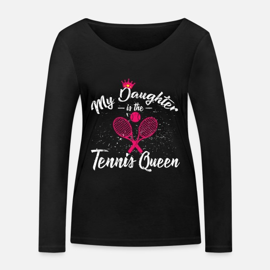 Tennis Match Long sleeve shirts - Women tennis gift idea - Women's Organic Longsleeve Shirt black