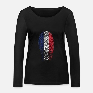 French Flag Fingerprint French Flag - Women's Organic Longsleeve Shirt by Stanley & Stella