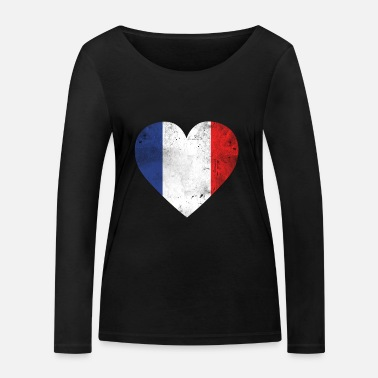French Flag Gift France flag french flag - Women's Organic Longsleeve Shirt by Stanley & Stella