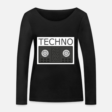 Turntable Techno Turntable - Økologisk Stanley & Stella langærmet T-shirt til damer