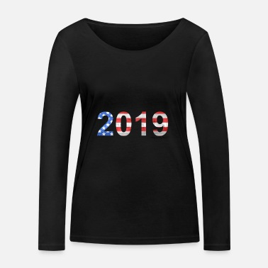 2019 US flag - Women's Organic Longsleeve Shirt