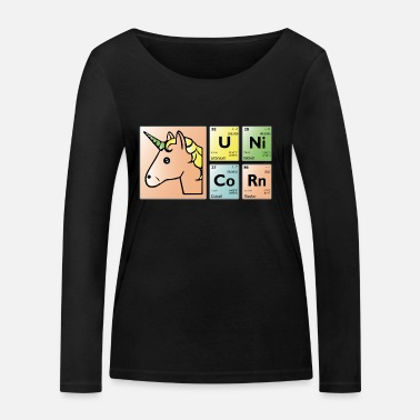 Periodic Table unicorn period - Women's Organic Longsleeve Shirt by Stanley & Stella