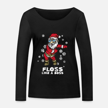 Floss Like A Boss | Dancing Santa Claus - Women's Organic Longsleeve Shirt by Stanley & Stella