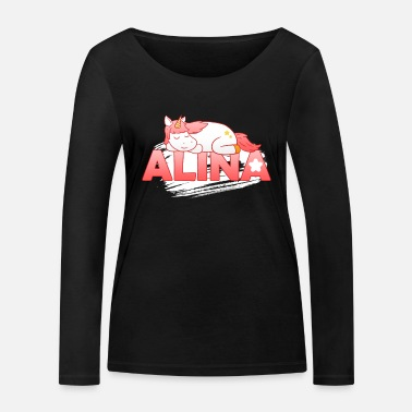 First Name Alina first name name - Women's Organic Longsleeve Shirt