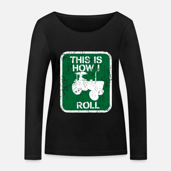 Gift Idea Long sleeve shirts - Tractor hobby - Women's Organic Longsleeve Shirt black