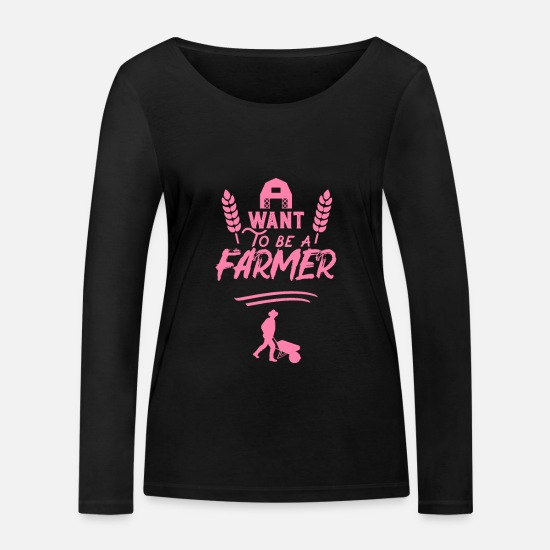 Gift Idea Long sleeve shirts - farmer's wife - Women's Organic Longsleeve Shirt black
