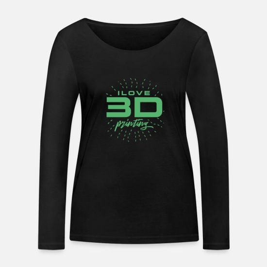 Gift Idea Long Sleeve Shirts - Hobby CAD Printing Printer 3D Printing Printing Model - Women's Organic Longsleeve Shirt black