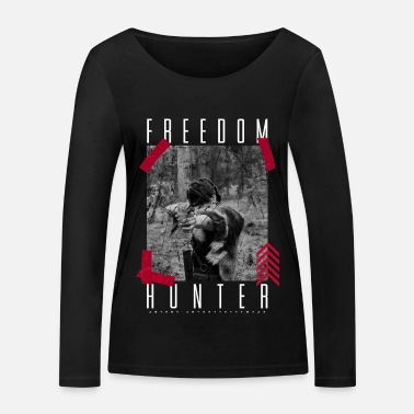 Freedom Hunter par ART8NS - T-shirt manches longues bio Femme