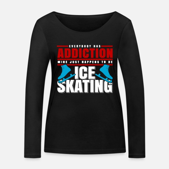 Ice Skate Long Sleeve Shirts - Ice Skate Ice Skating Ice Skating - Women's Organic Longsleeve Shirt black