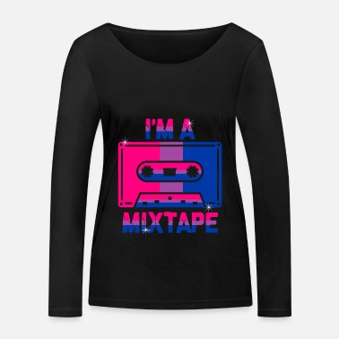 Bisexual I'm A Mixtape Bisexuality Bisexuality Bisexual - Women's Organic Longsleeve Shirt