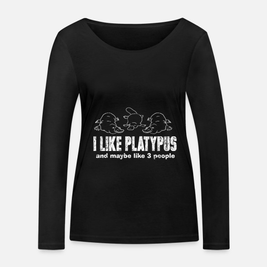 Gift Idea Long Sleeve Shirts - platypus - Women's Organic Longsleeve Shirt black