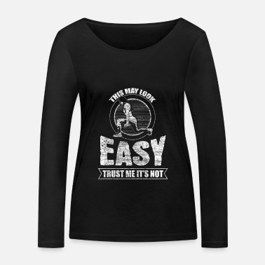 Squat Kniebeuge Sportler Training - Frauen Bio Langarmshirt