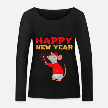 Happy New Year Year Of The Rat Happy New Year 2020 January 1st - Women's Organic Longsleeve Shirt