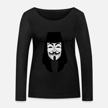 Acta GUY FAWKES MASKE Anonymous ACTA Vendetta occupy - Frauen Bio Langarmshirt