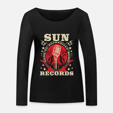 Rockabilly Rockabilly Records Guitar Sun Radio - Women's Organic Longsleeve Shirt
