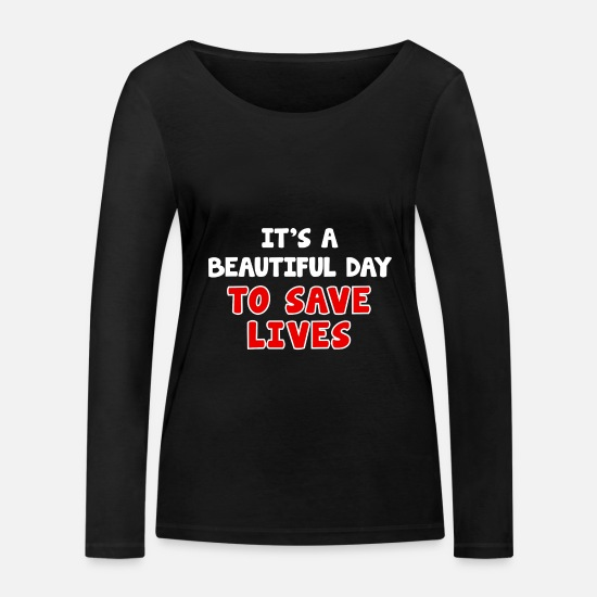 Doctor Long sleeve shirts - Doctor shirt doctors doctor student emergency doctor gift - Women's Organic Longsleeve Shirt black