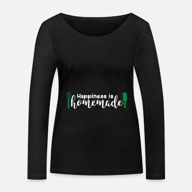 Happiness Happiness Is Homemade Gift Happiness - Vrouwen bio longsleeve