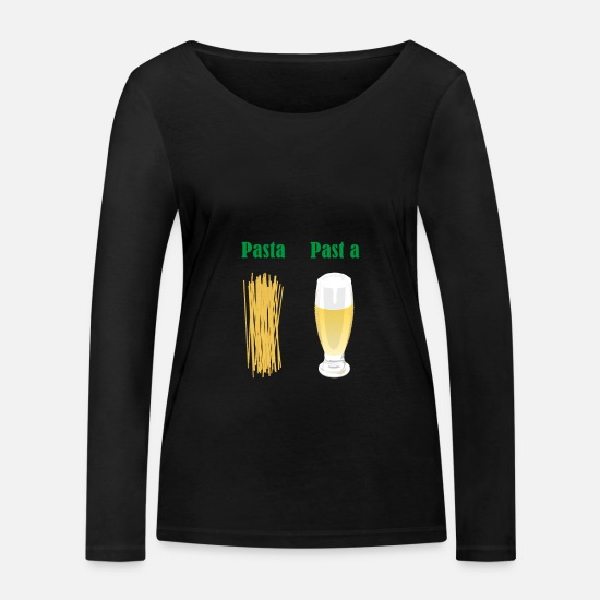 Alcohol Long sleeve shirts - Pasta, fits a - dialect - Women's Organic Longsleeve Shirt black