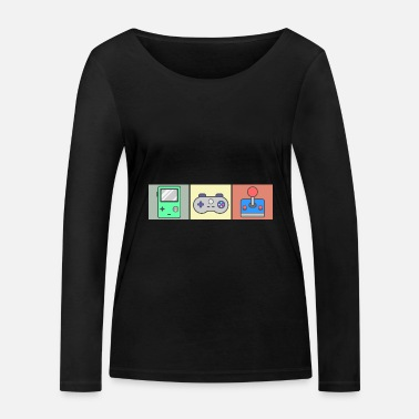 Retro Game Figuren Retro Game - Vrouwen bio longsleeve