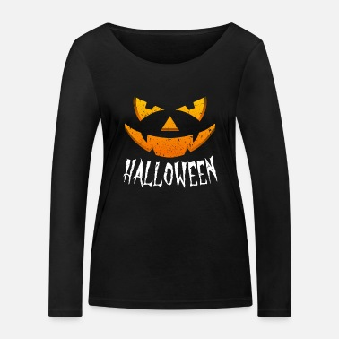 Clown Halloween Costume Pumpkin Scary Monster - Women's Organic Longsleeve Shirt