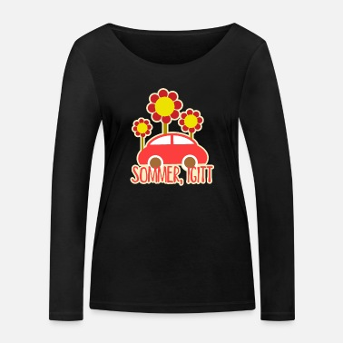 Bleating Bleating sunflowers in the summer - Women's Organic Longsleeve Shirt